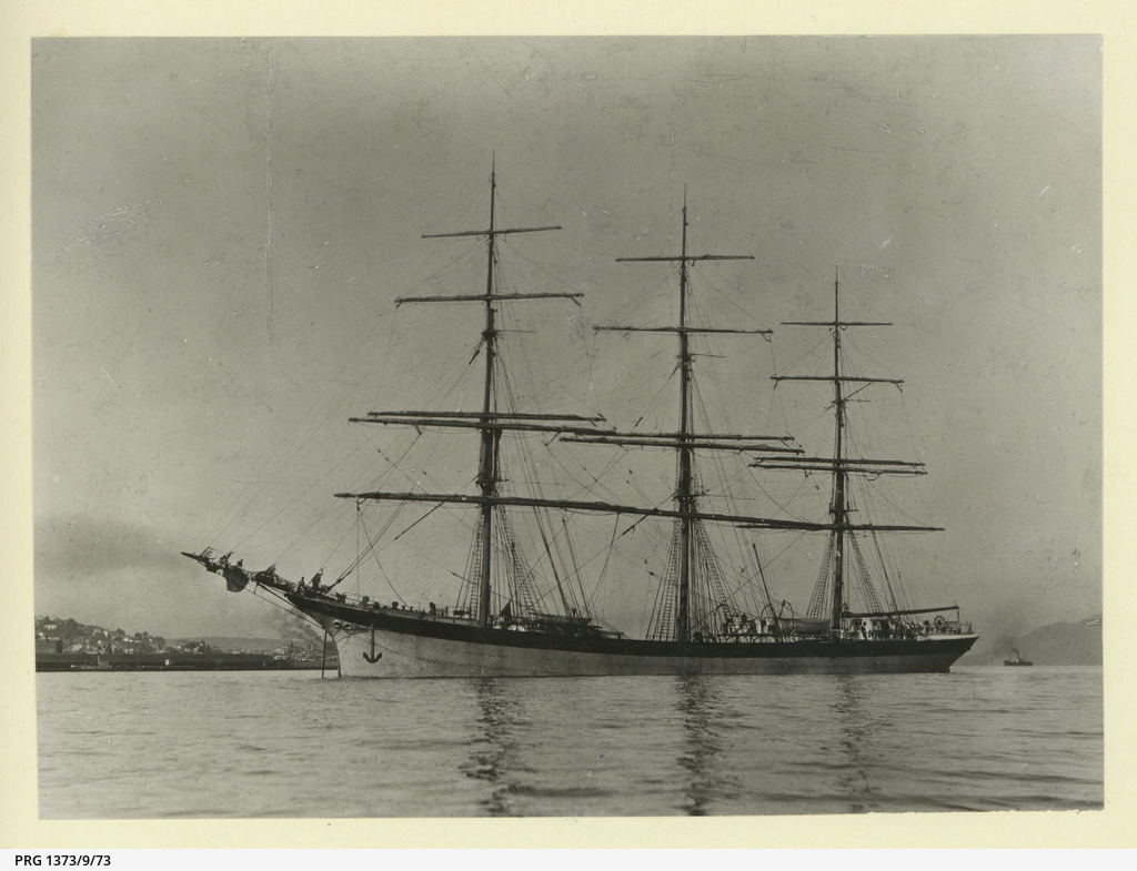 The 'Ancaios' anchored in an unidentified port