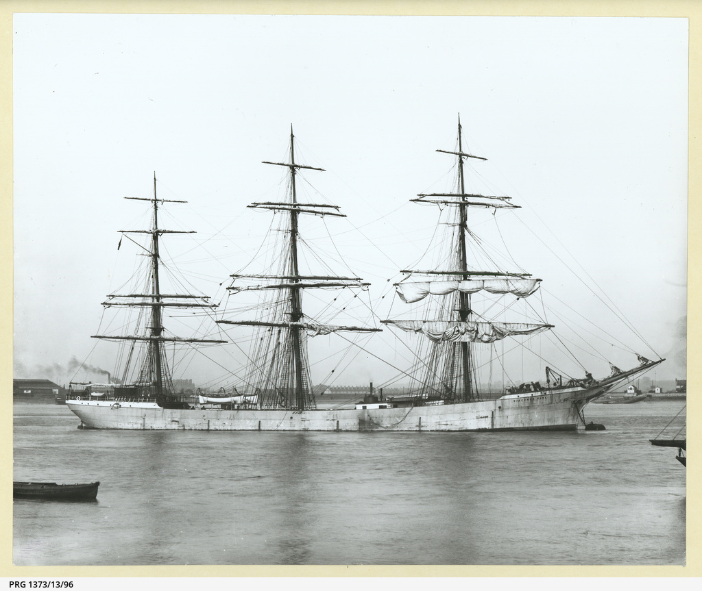 The 'Wiscombe Park' moored in an unidentified port