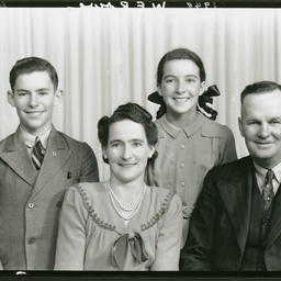 Mr and Mrs Rowe and children