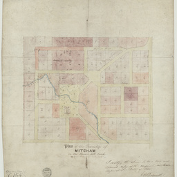 Plan of the township of Mitcham [cartographic material]