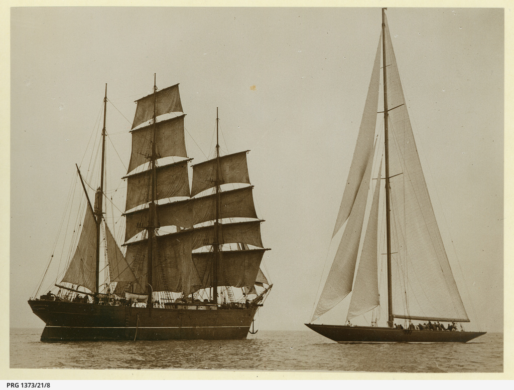 The 'Shakespeare' and 'Shamrock' under sail