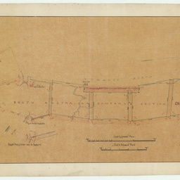 [Plan showing the South Australian Company's sections on Hindmarsh Reach, Port Adelaide] [cartographic material]/ by William Murray