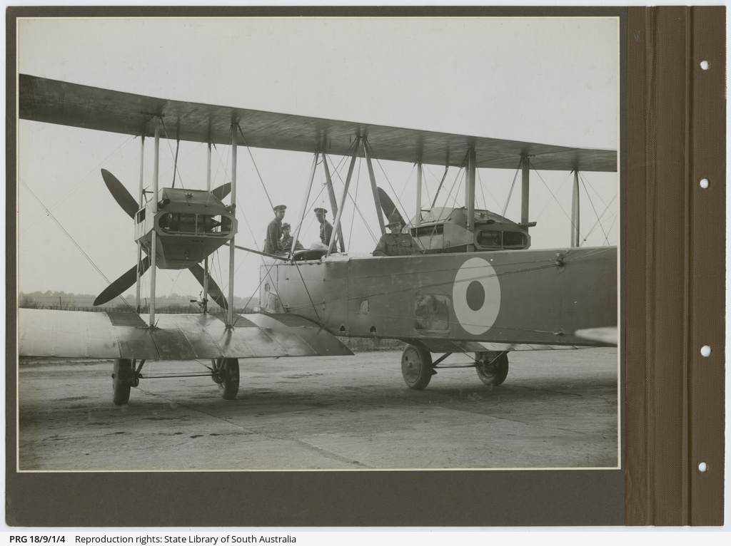 Photographs of inaugural England - Australia flight