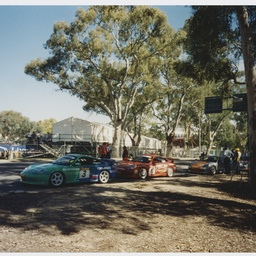Porsche racing cars at Adelaide Clipsal 500
