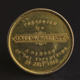 Medallion of 50th Anniversary of John McDouall Stuart Expedition