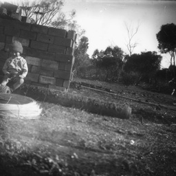 Young child in garden