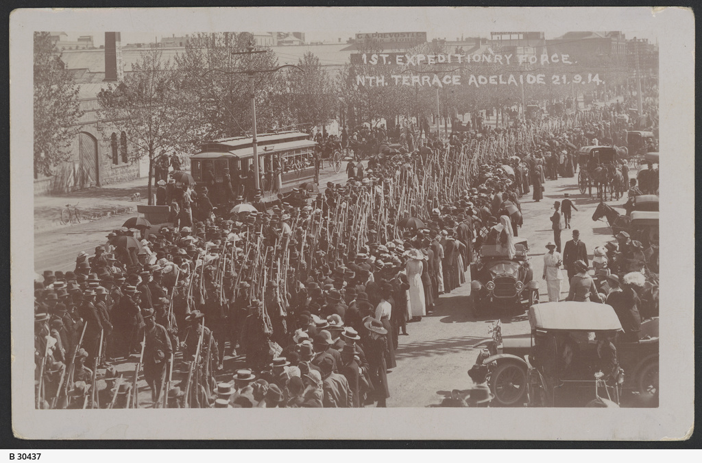 Farewell parade of the first contingent of South Australian soldiers for the First World War