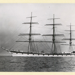 The 'Celtic Monarch' at anchor