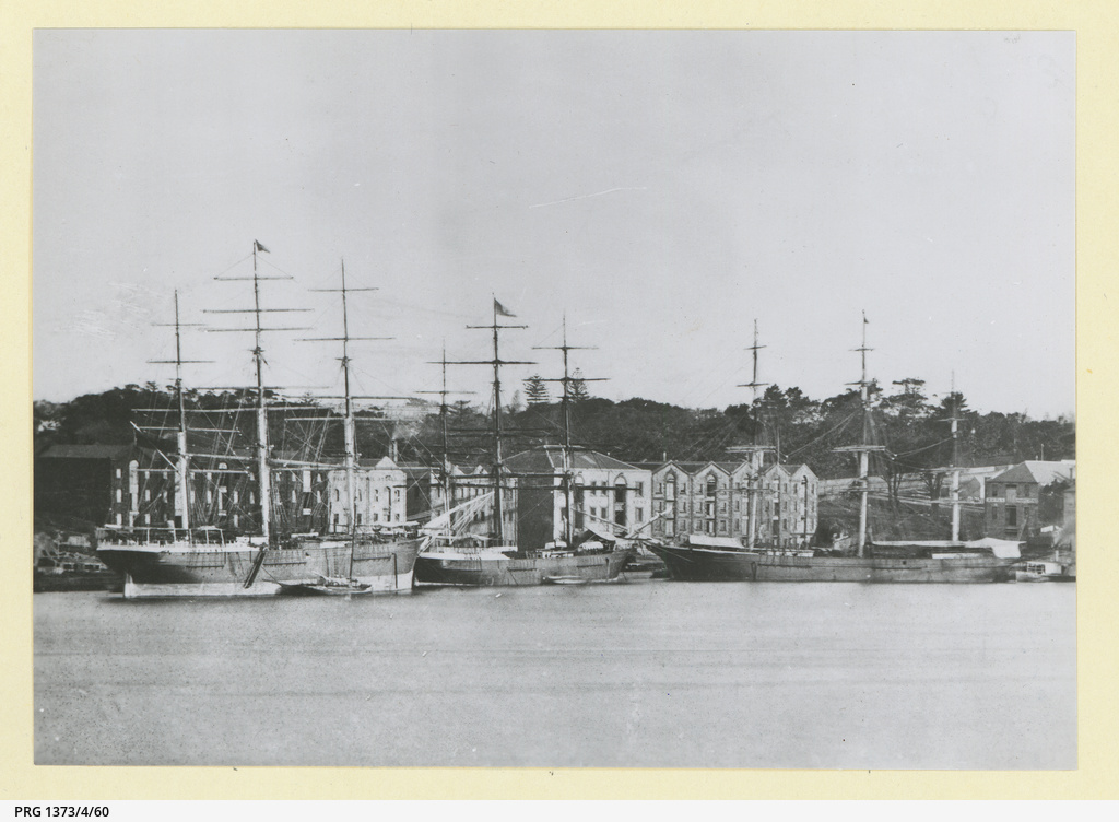 The 'Harlaw' and 'Nineveh' at East Circular Quay, Sydney