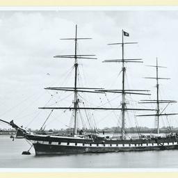 The 'Sobraon' moored at Gravesend, U.K.