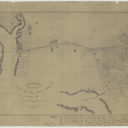 Plan and section of the South Australian Company's road to the New Port and Section 'A' [cartographic material] / by G.S. Kingston, Civil Engineer