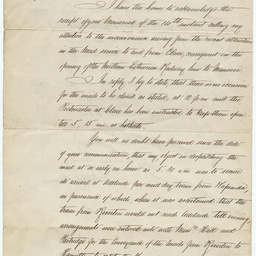 Letter from Sir Charles Todd