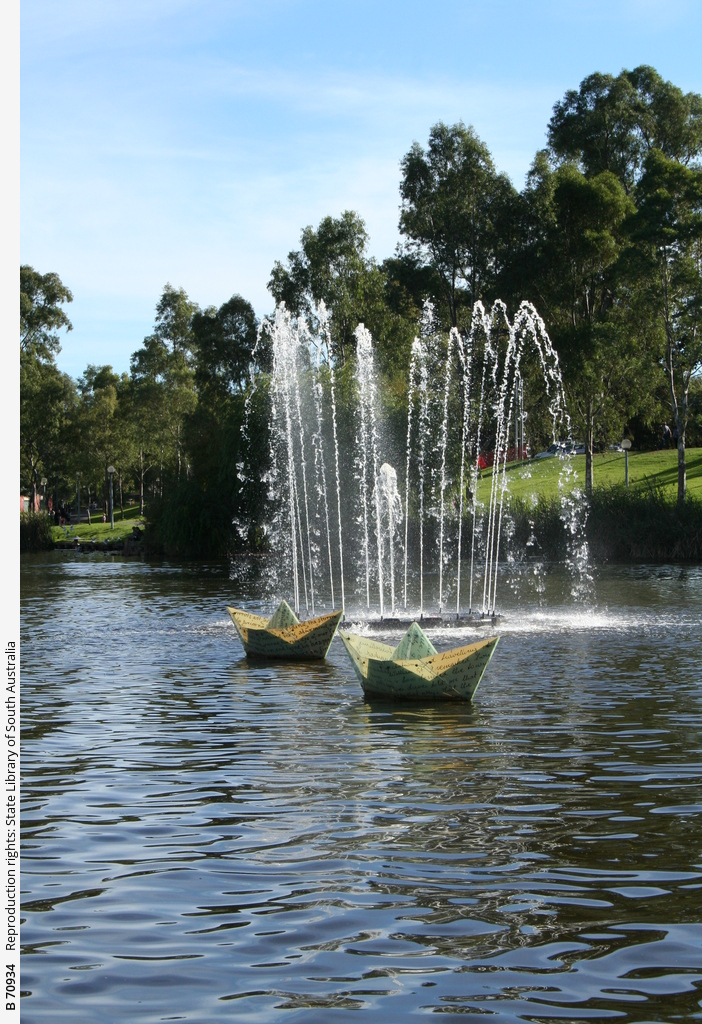 River Torrens fountain