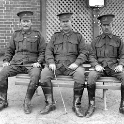 Three officers of the 32nd Battalion