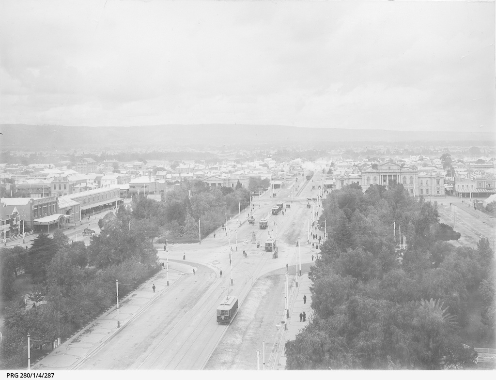 An aerial view of Adelaide
