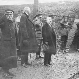 President of France visiting the Front