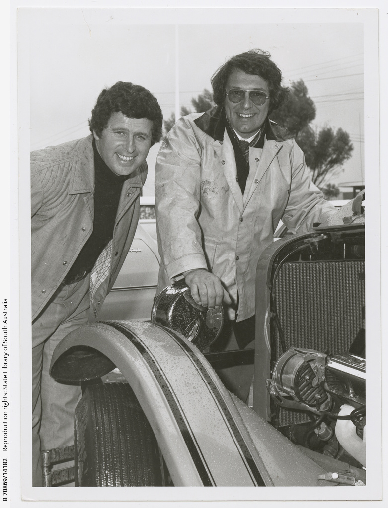 Tony Barber and Ron Collins, Malvern, at the Arndale Shopping Centre.