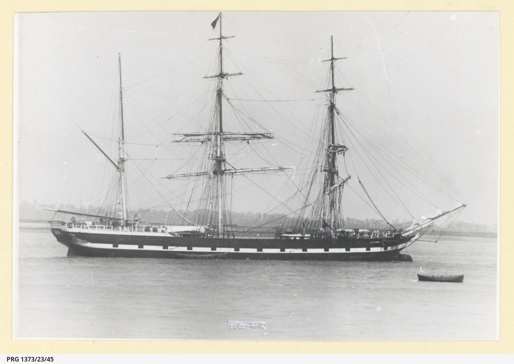 The 'Wave Queen' moored in an unidentified port