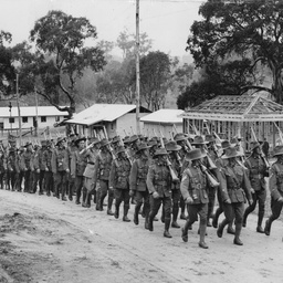 SA Militia route marching at Woodside