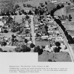 Aerial view of Gumeracha