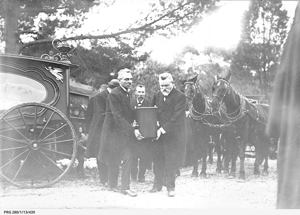 Pall bearers at the funeral for Tom Price, Premier of South Australia