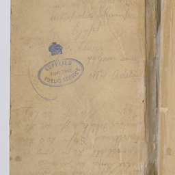 World War I diary of Frederick Leopold (Leo) Terrell, Heliopolis Camp, Egypt