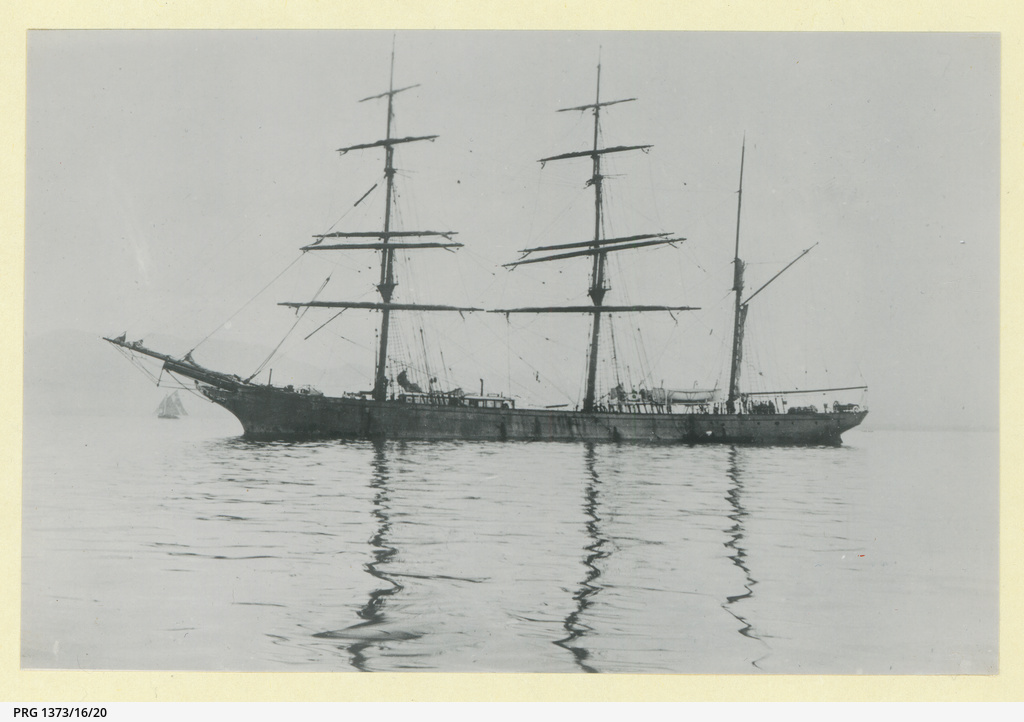 The 'Gwrtheyrn Castle' in an unidentified harbour