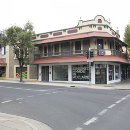 Shop on corner of Pulteney and Gilles Streets, Adelaide