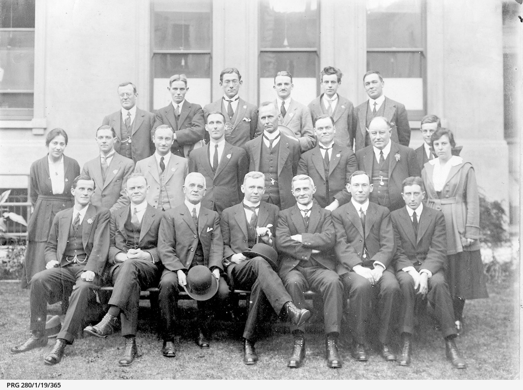Henry Barwell and his staff