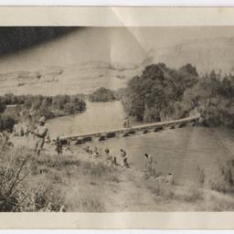 Jordan River pontoon bridge.