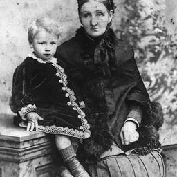 Mrs Pearce with her grandson, Alfred Evans