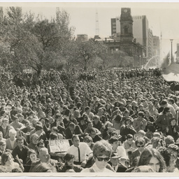 Crowd at Vietnam War Moratorium rally