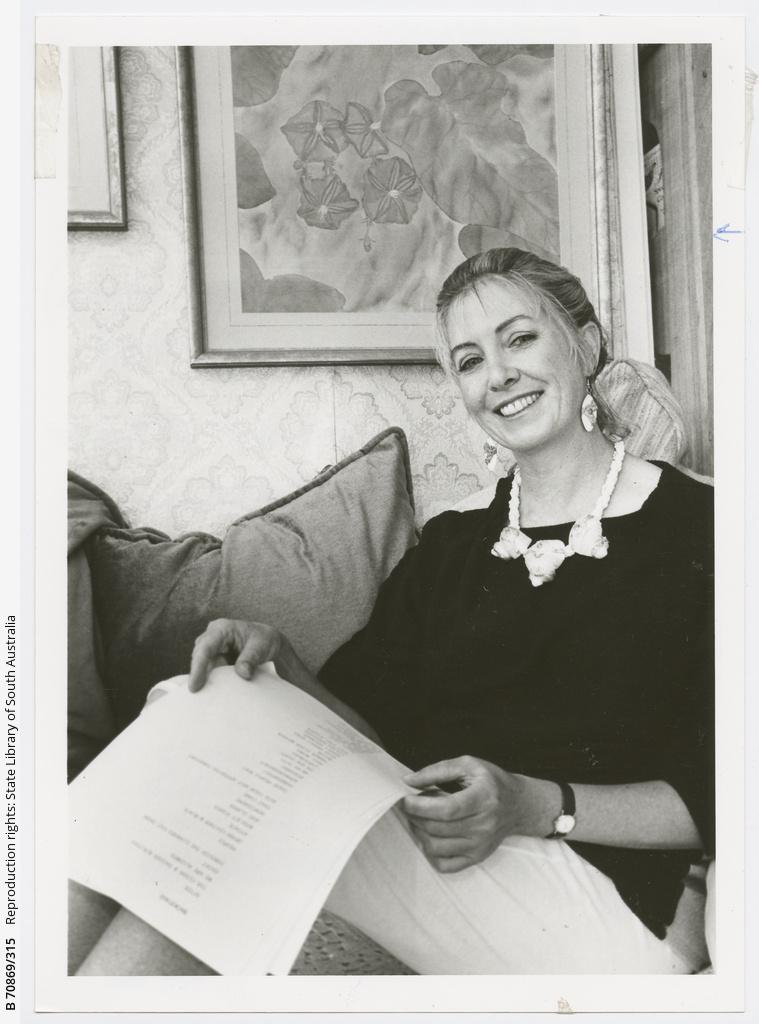 Margaret Goddard... Writer, jewellery-maker and palm reader. 17 February 1988.