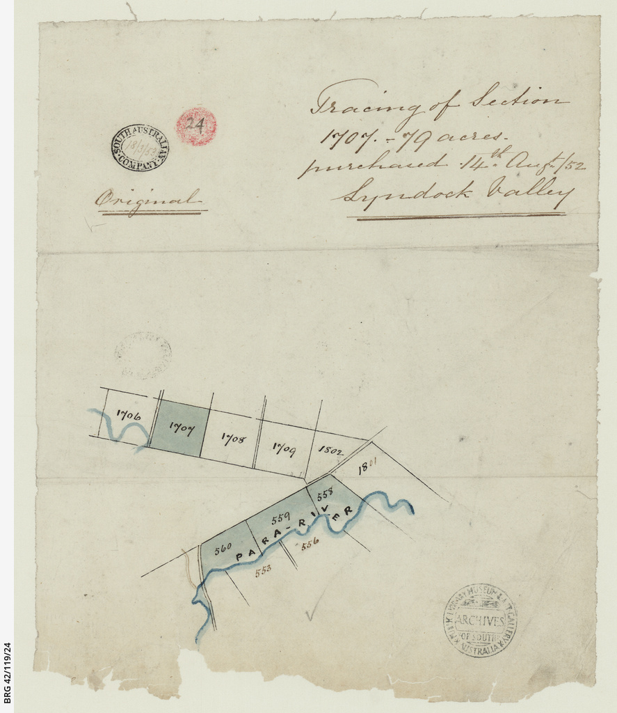 Tracing of section 1707 Lyndock Valley [cartographic material]