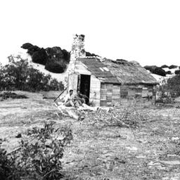 Martin Yerve's old shack at Nine Mile Point on Younghusband Peninsula
