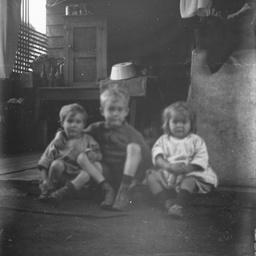 Children in wash house