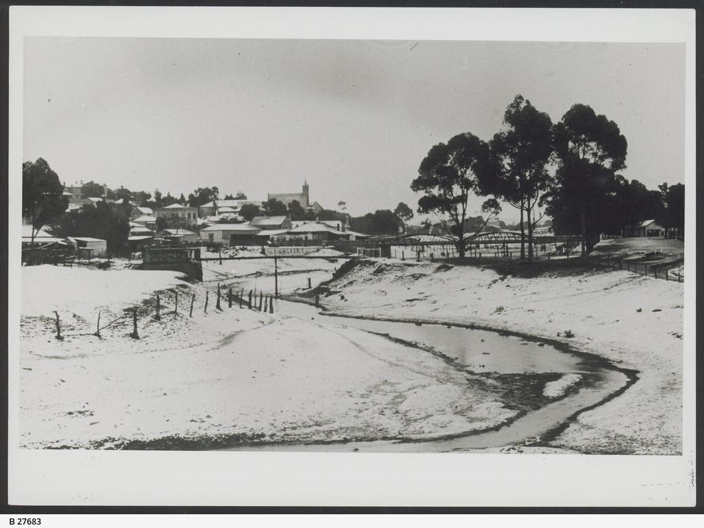 Snow at South Australian town