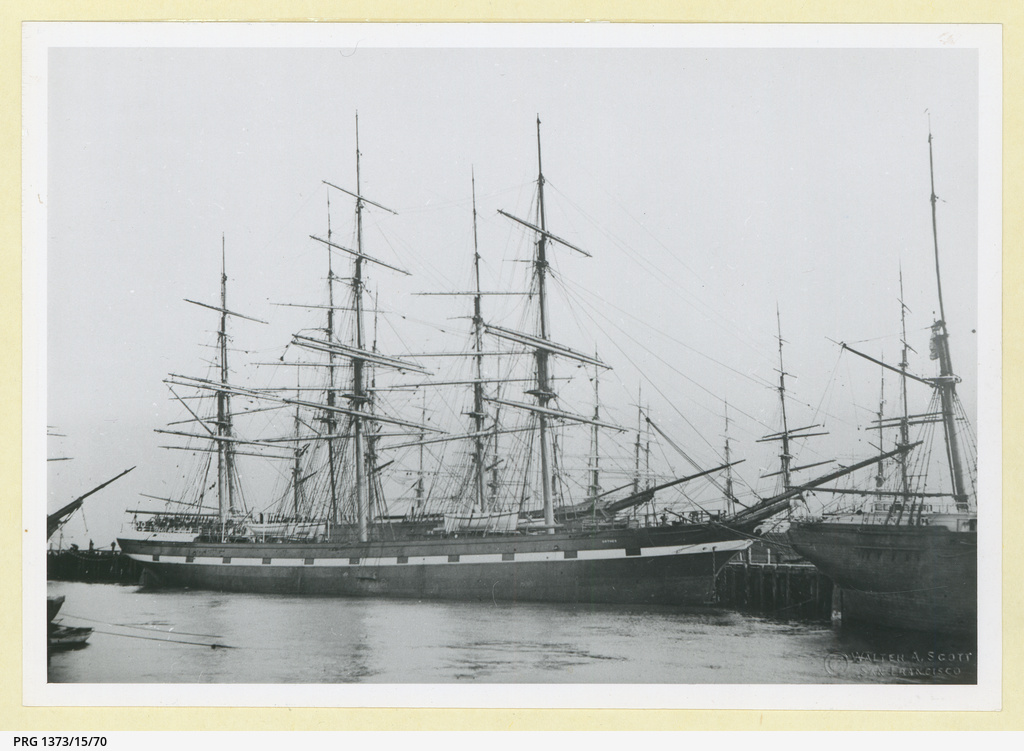 The 'Orthes' docked in an unidentified port