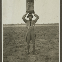 Ross Smith with water tank.