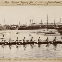 Port Adelaide Regatta Junior Eights champions 1905