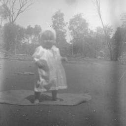 Toddler in a garden