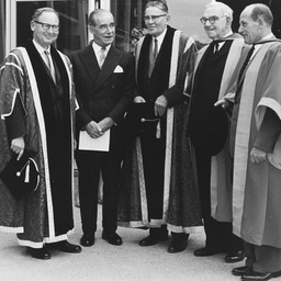 Distinguished men at the first Commemoration held at Flinders University
