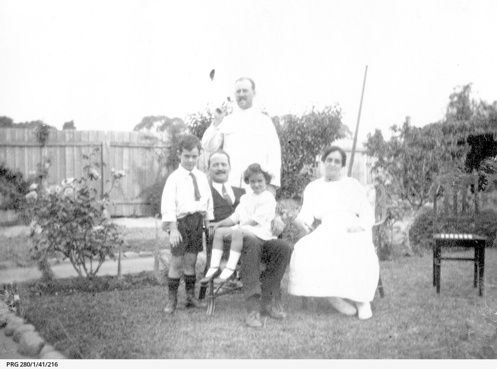 Searcy family group at Hawthorn, South Australia