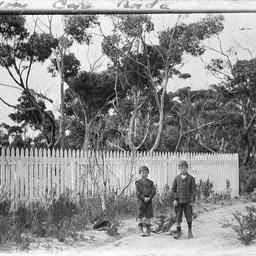 Thomson brothers at Cape Borda cemetery, Kangaroo Island