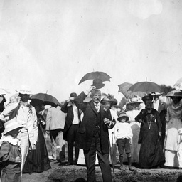 Sir George Le Hunte attending a public function