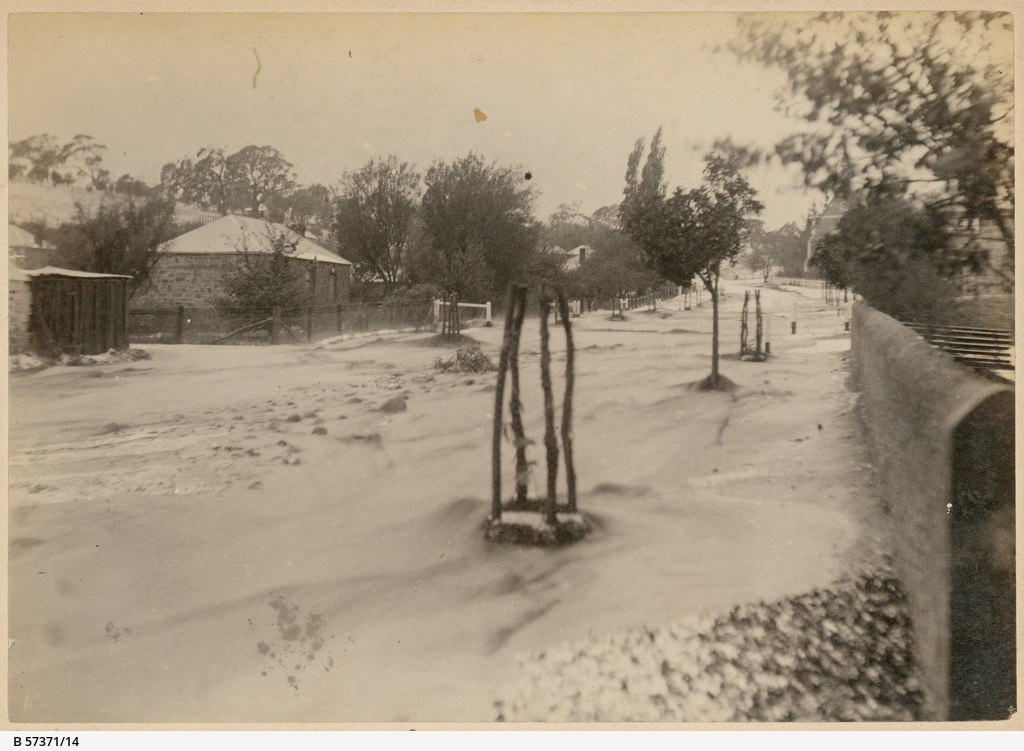 Angaston after a hail storm