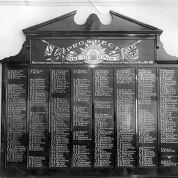Roll of honour from Prospect, South Australia