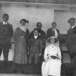 Passengers on board the SS 'Zealandia'