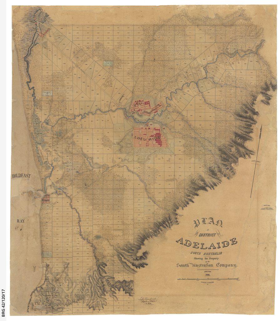 Plan of the District of Adelaide South Australia showing the property of the South Australian Company [cartographic material]