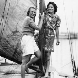 Two women on a yacht